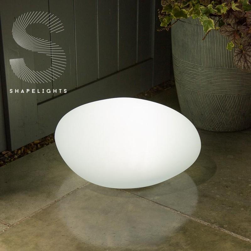 Oval lampe på solceller/USB (farve kan indstilles)