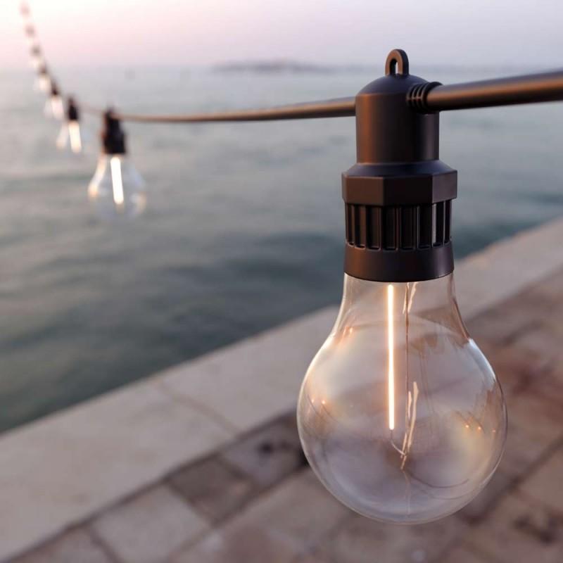 Edinburgh USB solcelle Festoon lyskæde (20 dekorative pærer)