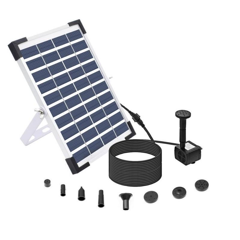 5W solcelle springvand med batterifunktion