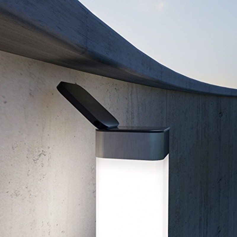 solcelle lampe til mur