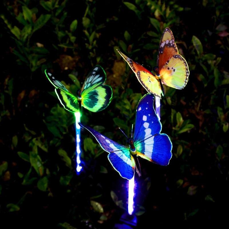solcelle sommerfugle optisk fiber