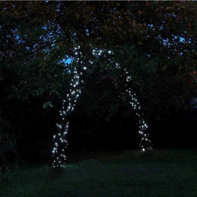 Solcelle lyskæde 100led hvid