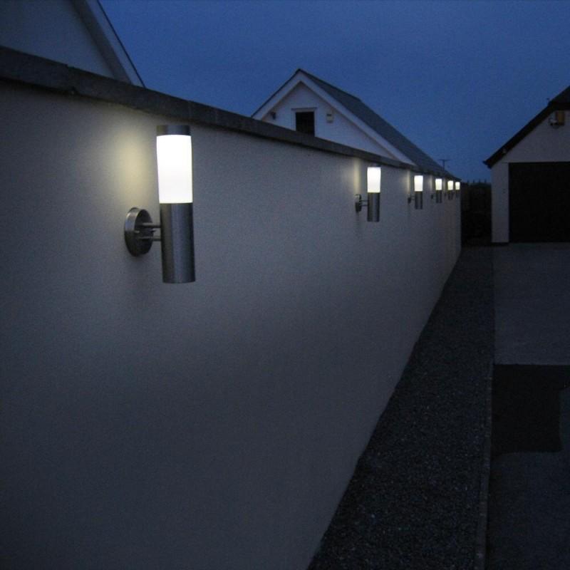 Canterbury XT solcelle væglamper i rustfrit stål