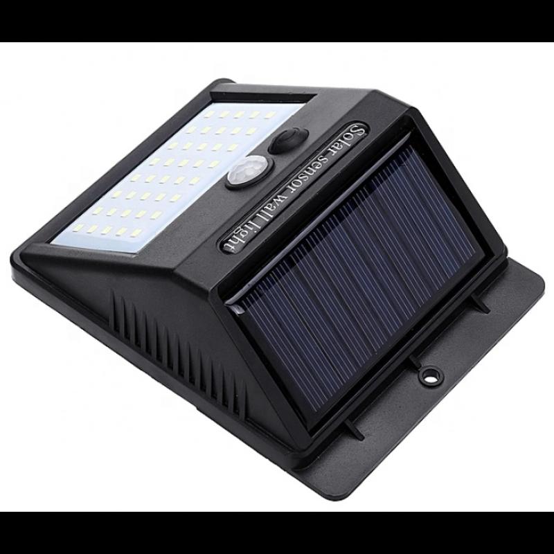 solcelle væglampe med sensor