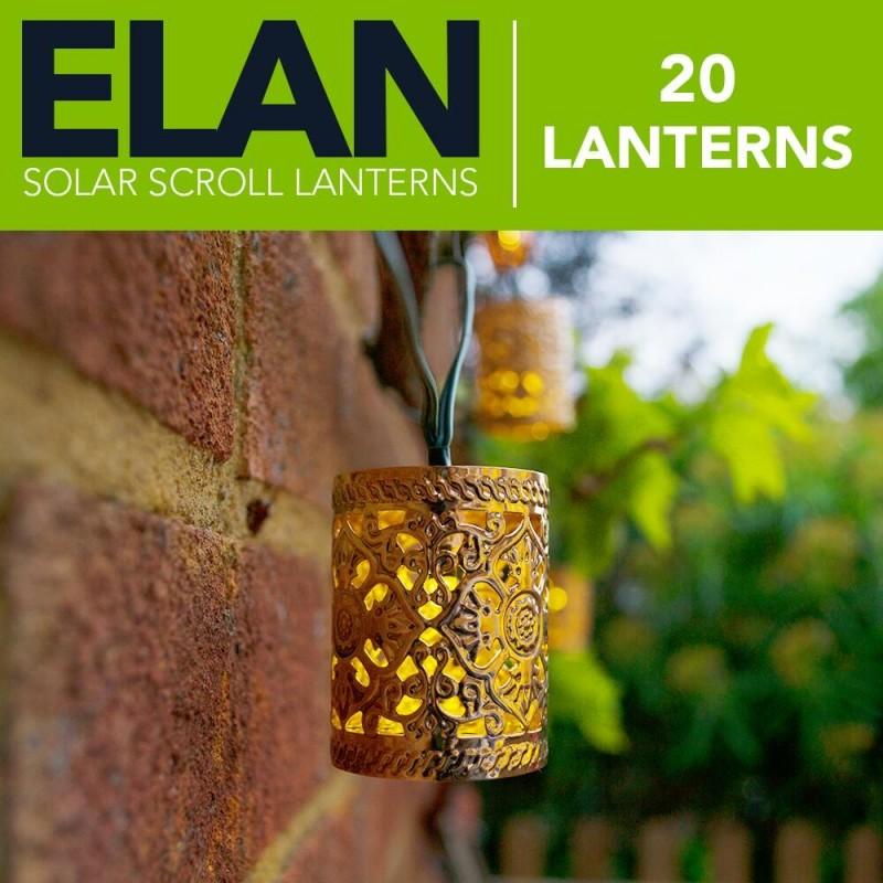 ELAN Solcelle Kobberlanterner i Cylinderform (20LED, Varm Hvid)