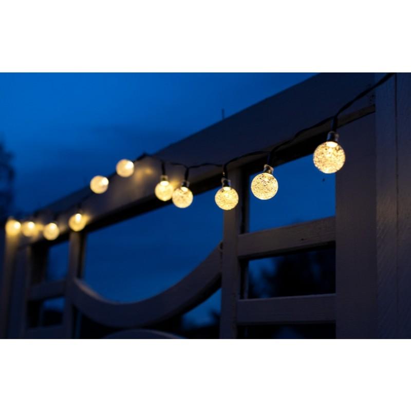 Solcelle lyskæde kuglelys