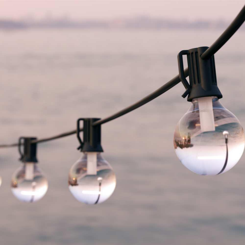 Falmouth Solcelle Lyskæde med Pærer (25 pærer, varm hvid)