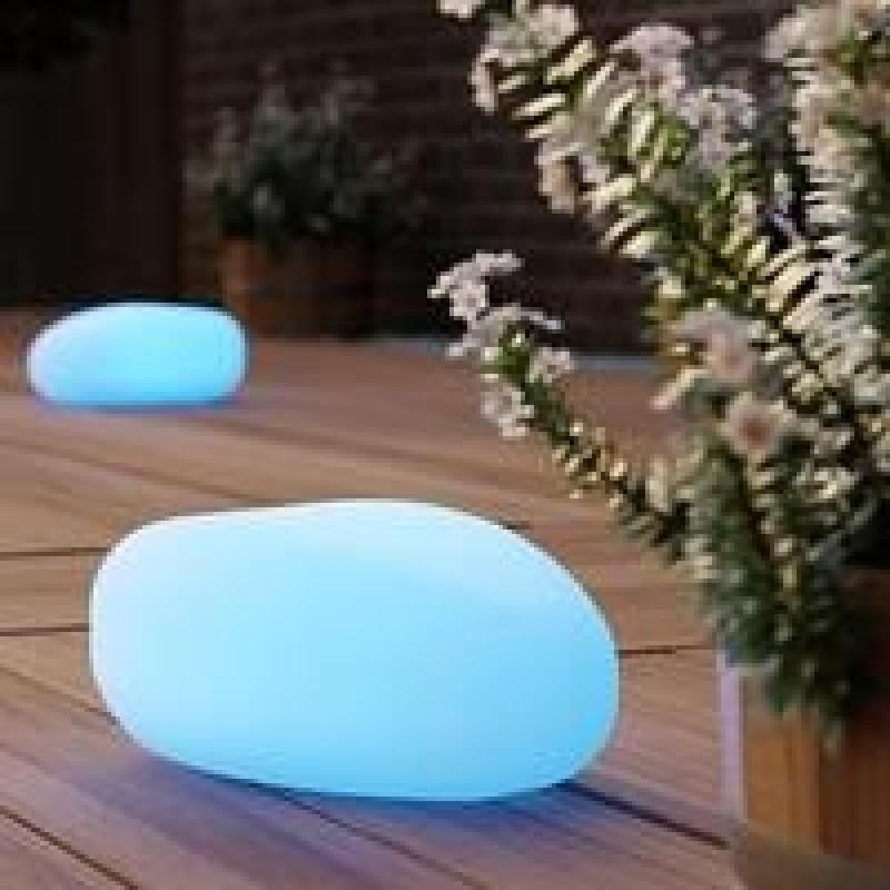 Shimmer lysende solcelle sten