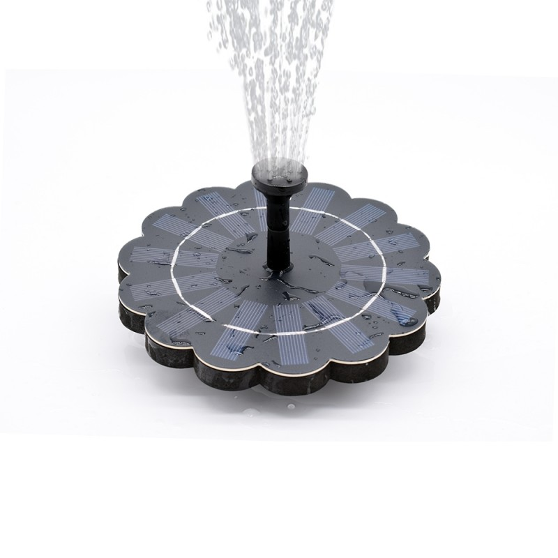 Lotus flydende solcelle springvand
