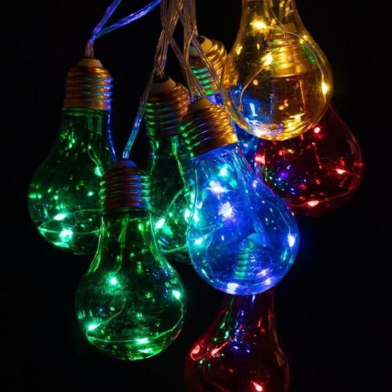 Lumify solcelle lyskæde med farvede pærer
