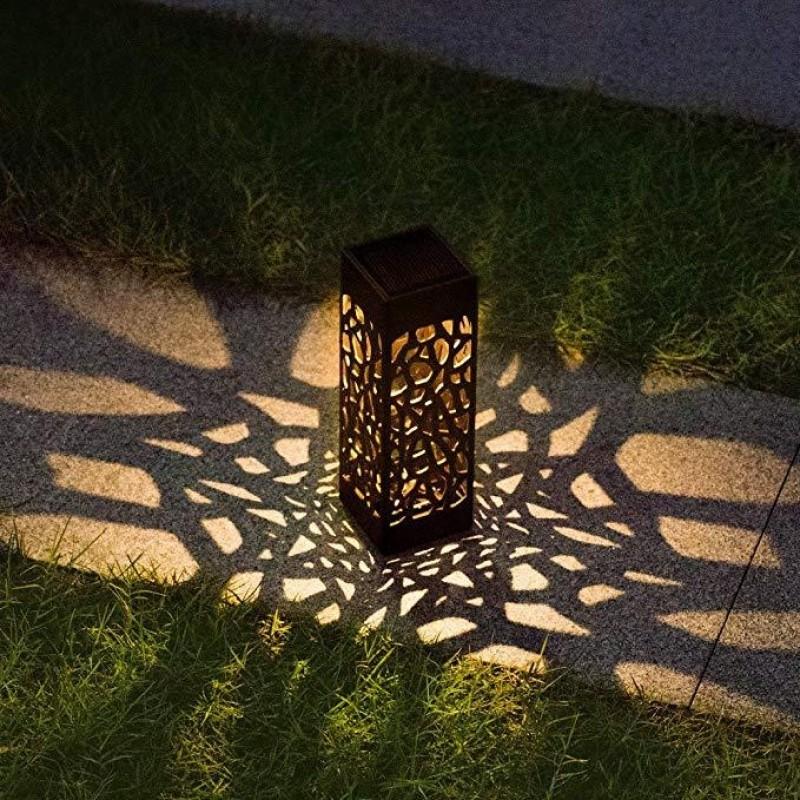 Solcelle bordlampe med flot mønstret lys (sæt af 6)