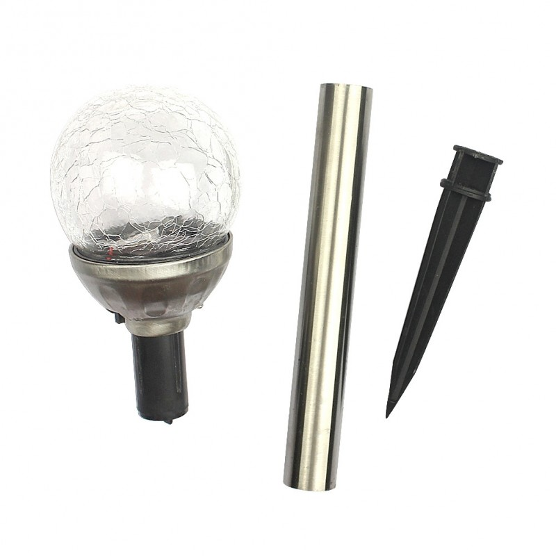 Solcelle kuglelys på spyd (sæt af 4 - H35 cm)
