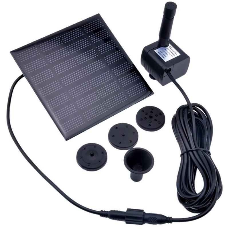 Minispringvand med solceller