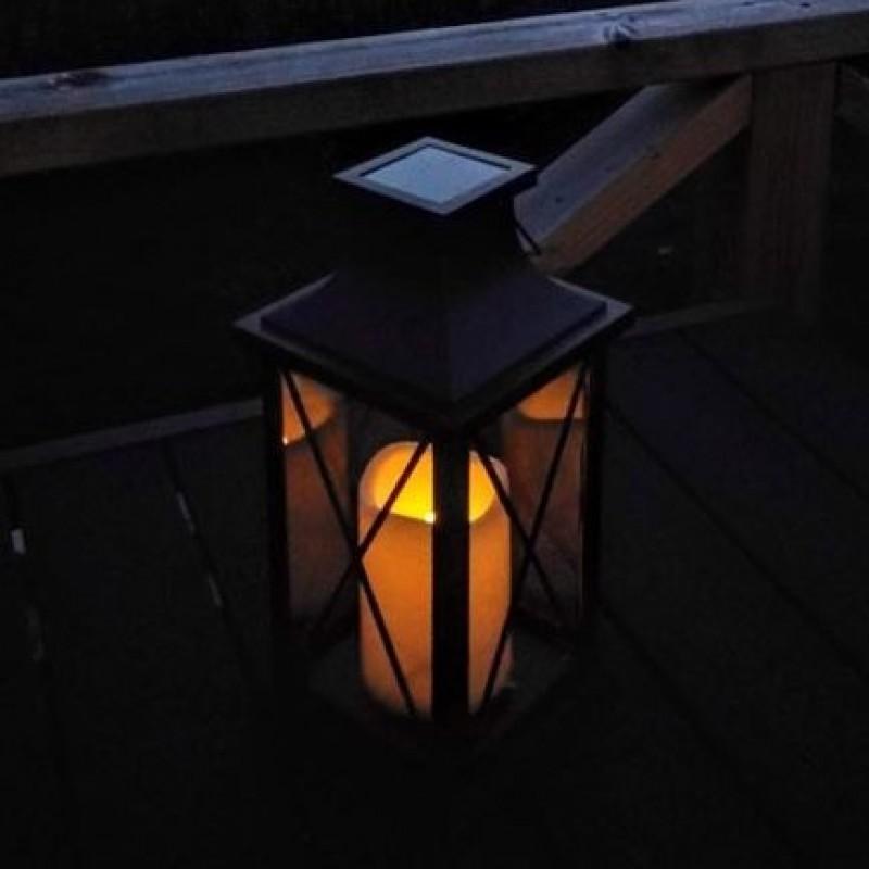 """Samsø Solcelle Lanterne med """"stearinlys"""""""