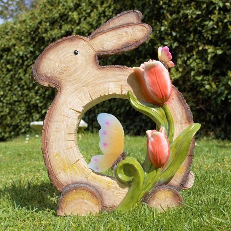 """Solcelle havefigur med lys """"Hare"""""""