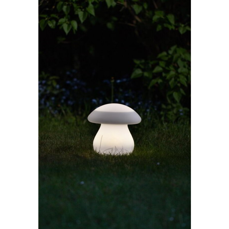 formlampe solcelle svamp