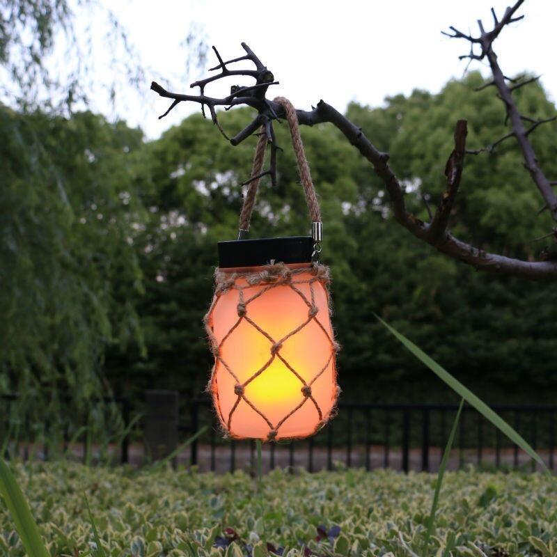 Solar Jar / Solkrukke med USB funktion og flamme-effekt