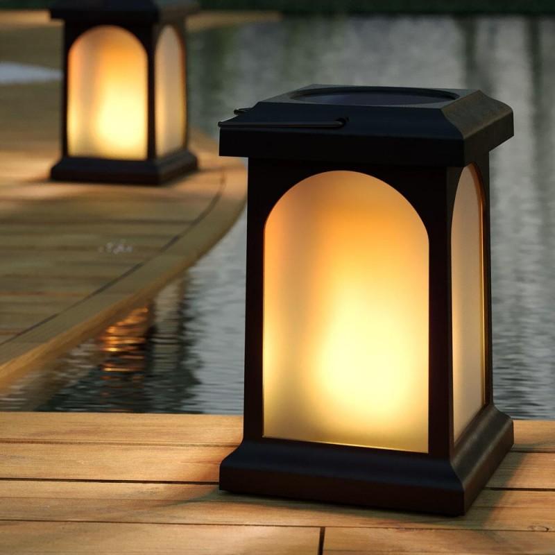 Trueflame solcelle lanterne med USB funktion