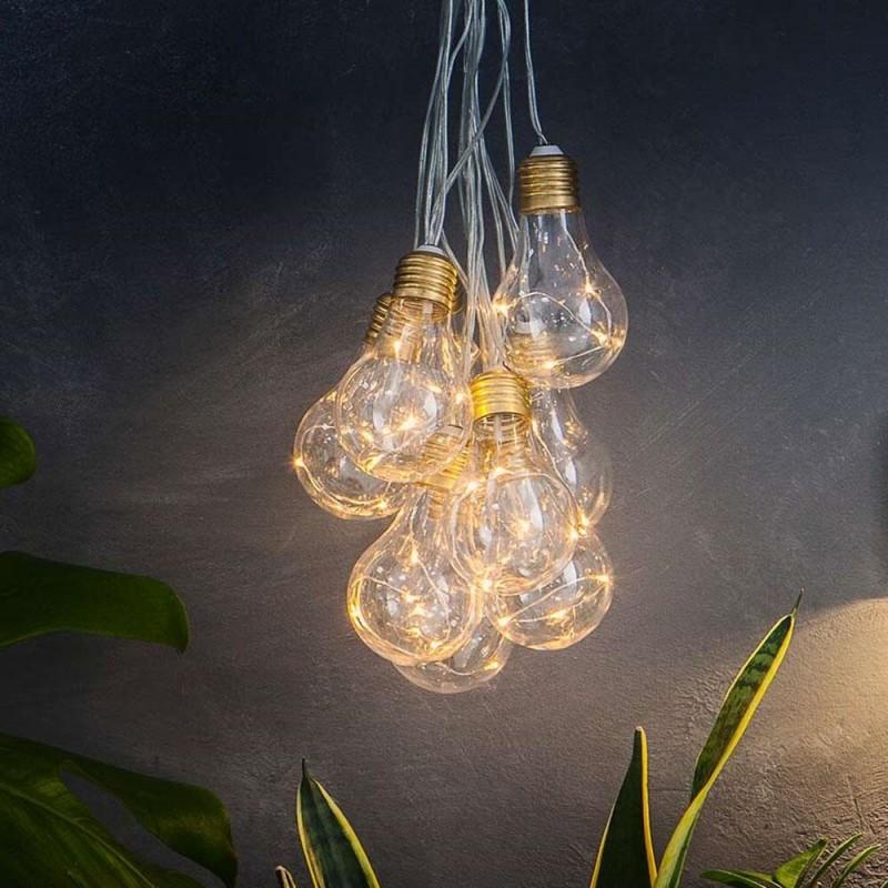 Lumify Vintage Solcelle Lyskæde med Pærer (10/20 pærer)