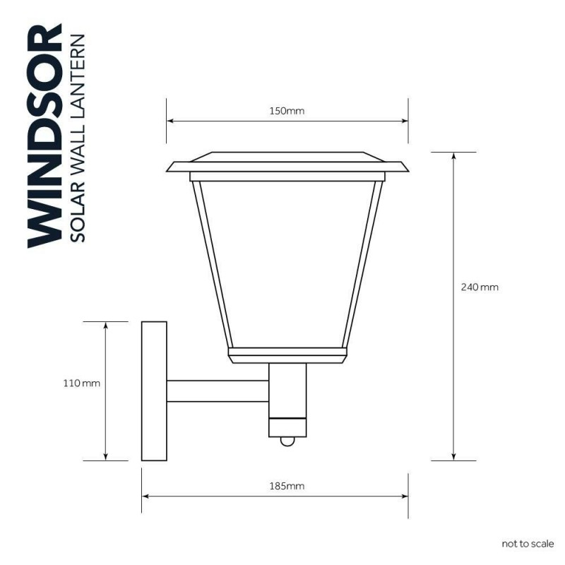 Solcelle lampe Windsor
