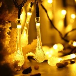 solcelle lyskæde med dråber