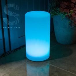 Cylinderlampe på solceller/USB (farve kan indstilles)
