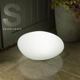 Oval lampe på solceller/USB (farve kan indstilles)-20