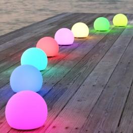 Solcellelampe med farver