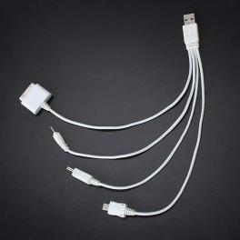 4-i-1 oplader kabel (30bens, microUSB, miniUSB, gammelt nokia-stik)-20