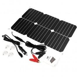 Solcelle bilbatteri oplader