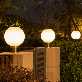 Solcelle kuglelampe