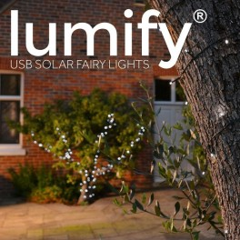Lumify helårs solcelle lyskæde (100/300LED, Hvid)