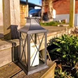 """Samsø Solcelle Lanterne med """"stearinlys""""-20"""