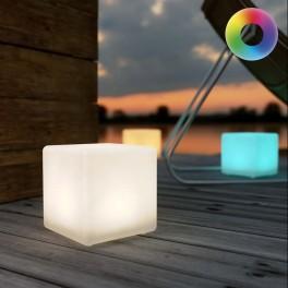 ShapeLight Mini Cube på solceller/USB (farve kan indstilles)
