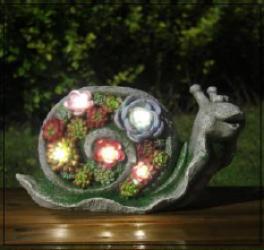 """Solcelle havefigur med lys """"Snegl"""""""