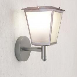 Windsor Solcelle Væglanterne i rustfrit stål med varmt hvidt lys-20
