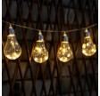 Solcelle lyskæde med pærer