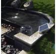 15W solcellespringvand med batteri og lys