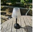 Lille solcelle bordlampe