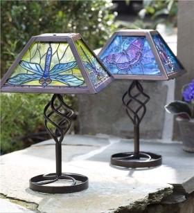 Solcelle bordlampe til udendørsbelysning