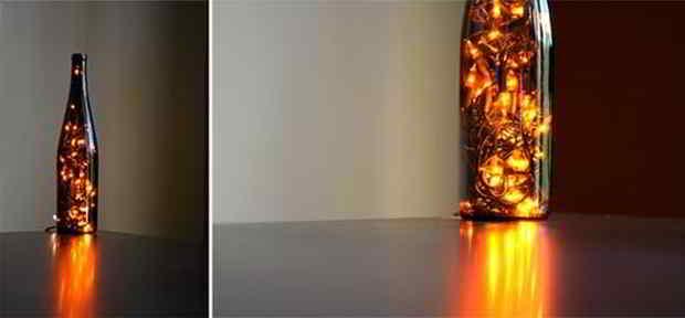 Lyskæde i glas