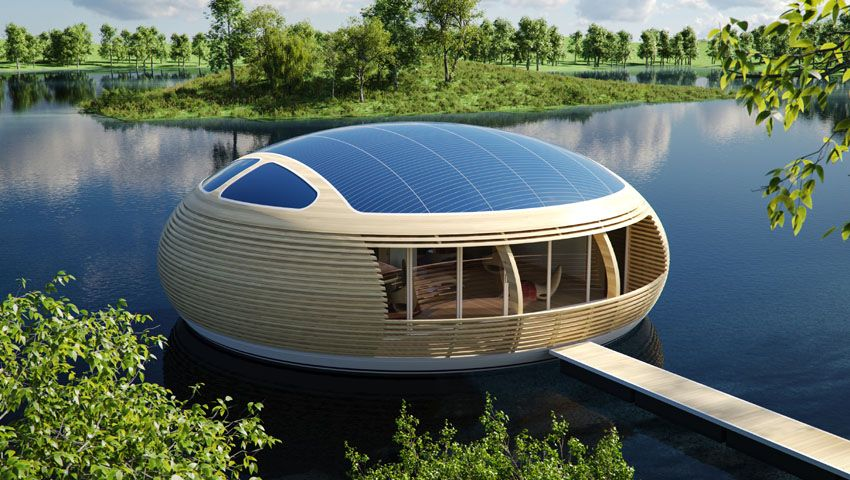 WaterNest solcelle hus